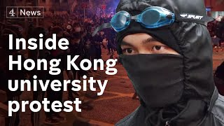 Hong Kong protests: Inside the university campuses becoming makeshift fortresses