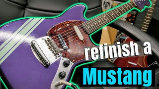 How To Refinish A Squier By Fender Vintage Modified Mustang Guitar