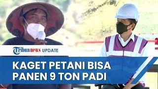 Reaksi Kaget Jokowi Dengar Petani di Ponorogo Bisa Panen 9 Ton Padi, Makin Kaget saat Tanya Bupati