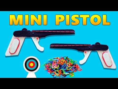 How to Make a Mini Rubber Band Gun Homemade Weapons