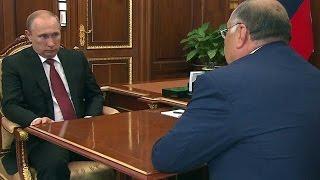 ( 30.06.2015) Алишер Усманов рассказал Владимиру Путину о социальных проектах ...