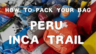 What Equipment Do I Need to Trek Machu Picchu? | Inca Trail | The Bucket List Company