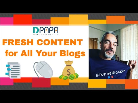 How WP AutoContent Gets You Automated FRESH CONTENT for All Your Blogs and Websites on Autopilot