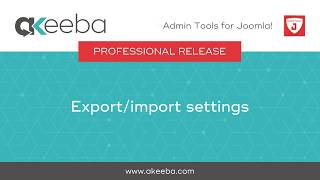 Watch a video on Export/Import Settings [01:42]