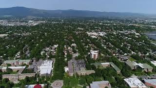 University of Montana aerial campus tour
