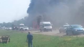 Жуткая авария м4 Дон 3 трупа, 2 из них сгорели за живо. 23.06.2016