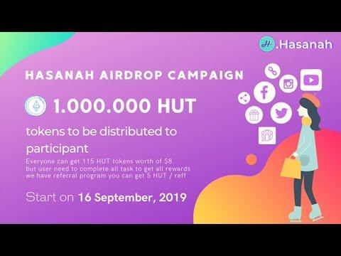 Ganhe U$8 Dólares Muito Fácil no Airdrop Bot .Hasanah !