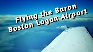 Boston Logan International Airport to the Hamptons in the Baron - KBOS to KHTO