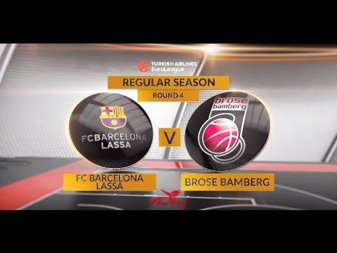 EuroLeague Highlights RS Round 4: FC Barcelona Lassa 78-74 Brose Bamberg