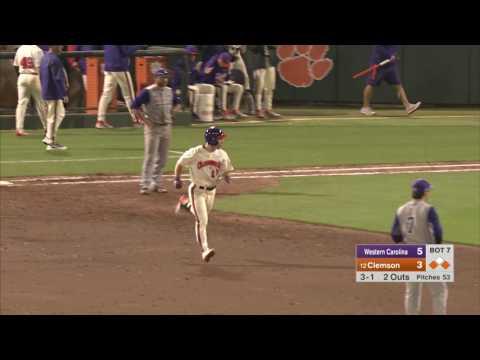 Clemson Baseball || Western Carolina Game Highlights - 2/22/17