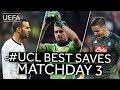 HANDANOVIČ, HRADECKY, MERET: #UCL BEST SAVES, Matchday 3