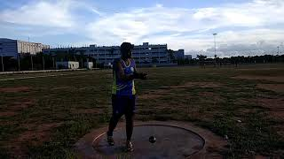 Hammer throw in practice for example easy throw