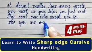 Beautiful English handwriting |English neat and clean sharp edge cursive handwriting styles