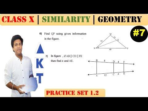 Similarity [Part 7] | Class 10 | Practice set 1.2 (MATHS 2) | Mah. (SSC) Board | Q6 and Q7
