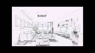 Interior Design Perspective Sketches
