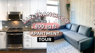 I Moved! Small Apartment Tour in San Francisco, California! (800 sq ft)