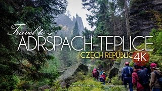 Travel to Adršpach-Teplice Rocks, Czech Republic in 4K