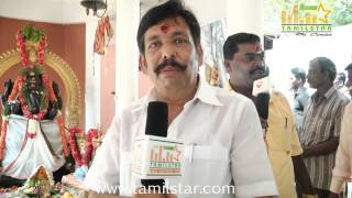 MK Raju at Kottampatti Thodakka Palli Movie Launch