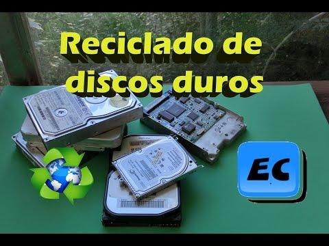 Que hacer con disco duro dañado roto o viejo  Reciclado