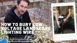 How to Install Low Voltage Landscape Lighting - Burying wire in your garden beds