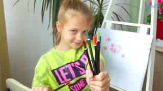 """Цветные карандаши 24цв TM Kite """"Города"""" от компании Интернет-магазин """"Радуга"""" - школьные рюкзаки, канцтовары, творчество - видео"""