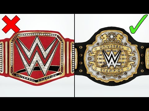 Amazing WWE Universal Title Redesigns In WWE 2K19