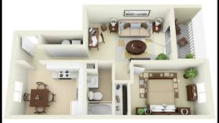 50+ One Bedroom Home Designs With Floor Plan | House Plans Ideas | 1 Bedroom Apartment Floor Plans