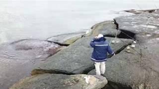 100% снятая с коптера рыбалка