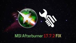 FIX - MSI Afterburner AMD Crimson Driver 17.7.2 | A SimpleSetup Tutorial