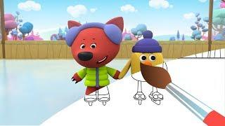 МИ-МИ-МИШКИ - Хоккей - Мишки на льду - Мультик Раскраска с Мимимишками - Учим цвета - Funny Bears