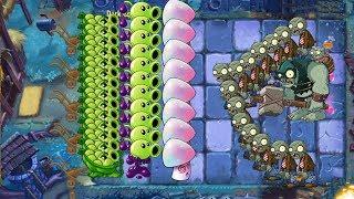Plants vs Zombies 2 - Sling Pea, goo Peashooter, Hypno Shroom