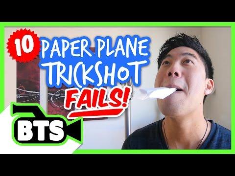 Paper Airplane Fails (BTS) (видео)