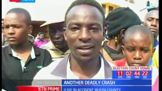 Three people die in a road accident in Kisii County