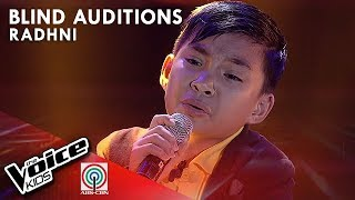 Radhni Tiplan - I Who Have Nothing   Blind Auditions   The Voice Kids Philippines Season 4