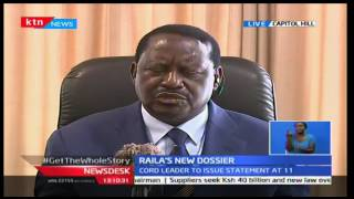KTN News Desk: CORD leader Raila urges the government to involve the communities affected, 10/10/16
