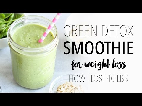 Video Green Detox Smoothie Recipe for Weight Loss | Easy & Healthy Breakfast Idea!