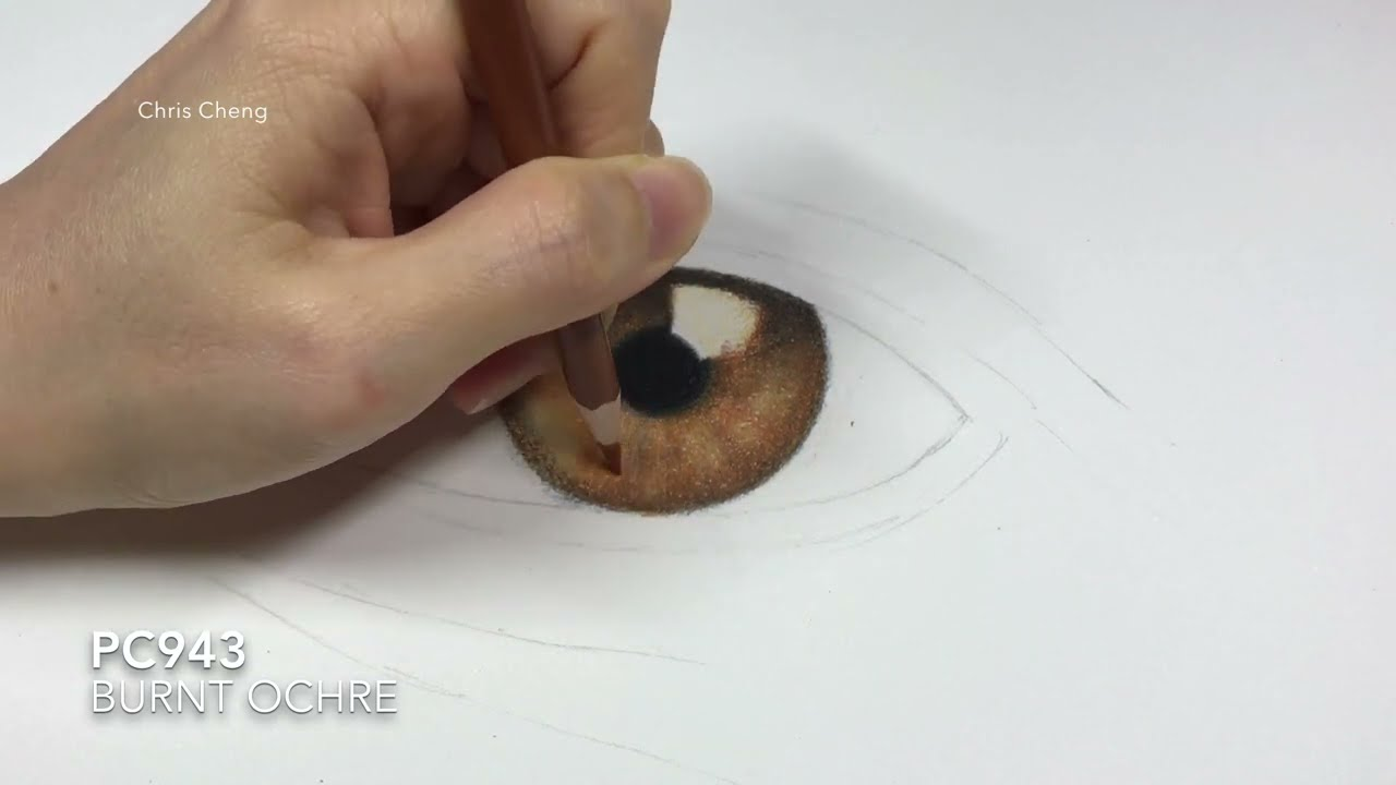 how to draw realistic eye step by step tutorial by chris cheng