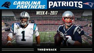 Cam & Brady EPIC QB DUEL! (Panthers vs. Patriots 2017, Week 4)