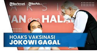 Beredar Hoaks Vaksinasi Jokowi Gagal karena Suntikannya Tidak Tegak Lurus, Ini Respons IDI