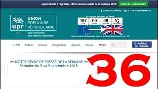 Revue de Presse UPR semaine n°36