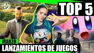TOP 5 LANZAMIENTOS DE JUEGOS DEL MES DE MARZO