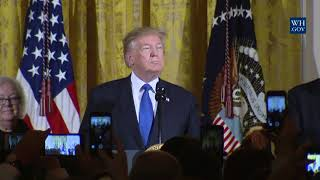 President Donald Trump Hosts a Hanukkah Reception