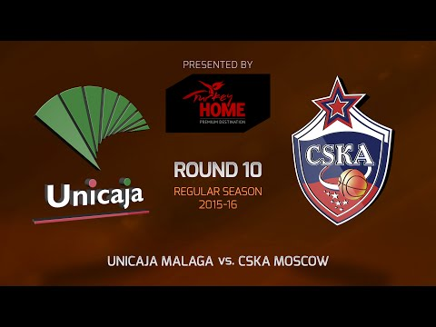 Highlights: RS Round 10, Unicaja Malaga 76-88 CSKA Moscow