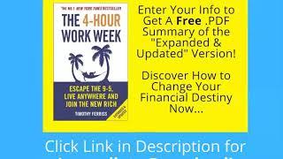 4 hour work week summary pdf free - Tim Ferriss
