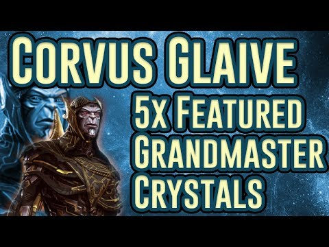5x Corvus Glaive Featured Grandmaster Crystal Opening | Marvel Contest of Champions