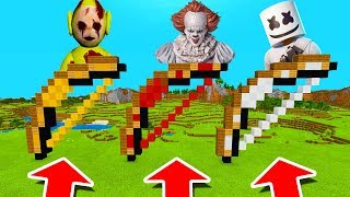 Minecraft PE : DO NOT CHOOSE THE WRONG BOW! (Pennywise, Marshmello & Laa-Laa Slendytubbies)