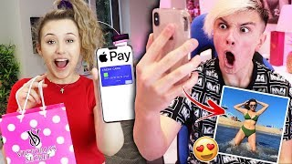 I Swapped PHONES With My BOYFRIEND For 24 HOURS! *Bad Idea*