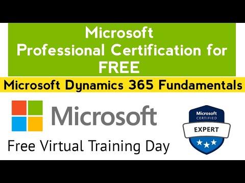 Microsoft Professional Certification for FREE | Microsoft Dynamics ...