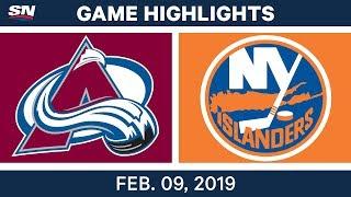NHL Highlights   Avalanche vs. Islanders - Feb. 9, 2019