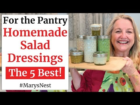 , title : '5 Homemade Salad Dressings - DIY Salad Dressing Recipes - Quick + Easy + Healthy'